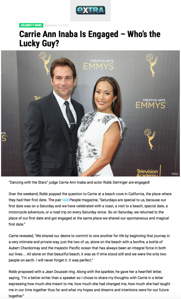 """Carrie Ann Inaba Is Engaged – Who's the Lucky Guy?"", EXTRA"
