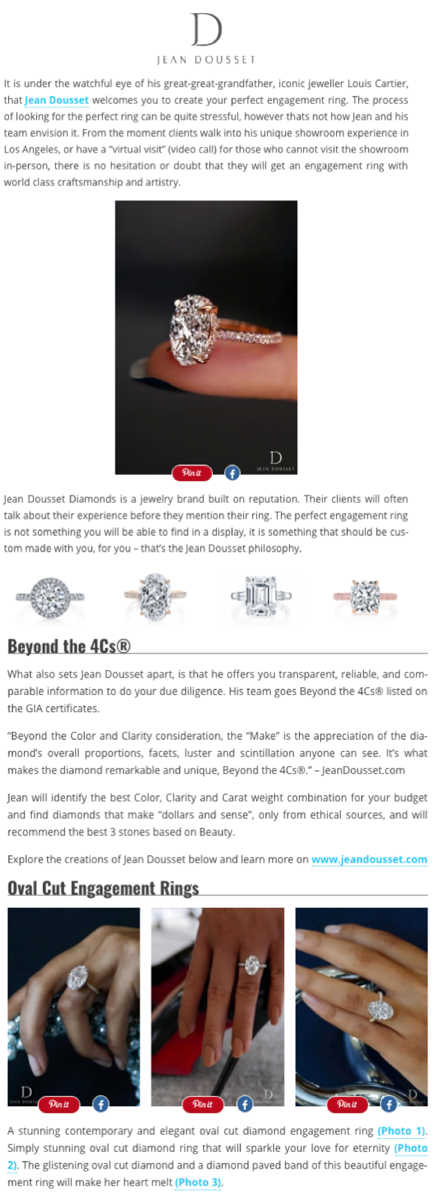 """""""Iconic Engagement Rings By Jean Dousset"""", Wedding Forward"""