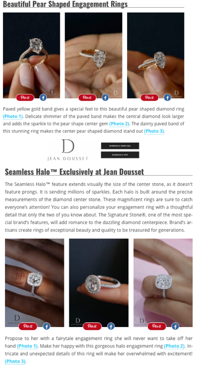 """Iconic Engagement Rings By Jean Dousset"", Wedding Forward"