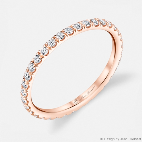 Angelina Diamond Eternity Band in 18K Rose Gold by Jean Dousset
