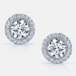 Eva Diamond Stud Earrings in Platinum by Jean Dousset