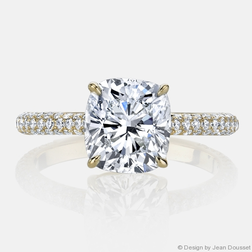 Chelsea Solitaire Engagement Ring in 18K Yellow Gold by Jean Dousset