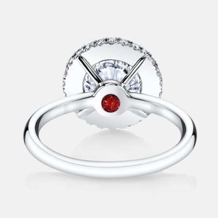 Eva Seamless Halo®Engagement Ring in Solid Metal in Platinum by Jean Dousset