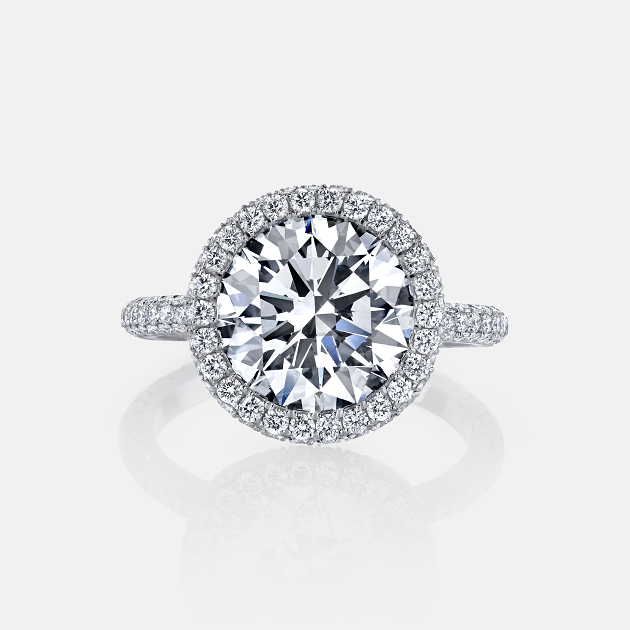 Ava Seamless Halo® Engagement Ring by Jean Dousset