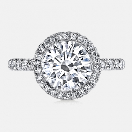 Iris Seamless Halo® Engagement Ring in Platinum by Jean Dousset