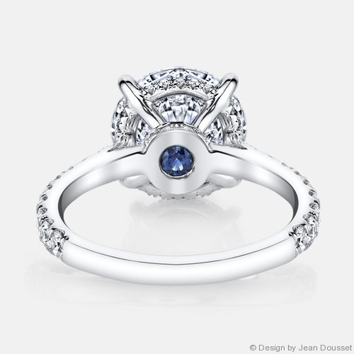 Francesca Solitaire Engagement Ring in Platinum by Jean Dousset