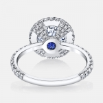 Louise Seamless Halo® Engagement Ring by Jean Dousset