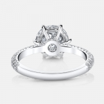 Aria Three Rows Solitaire Engagement Ring in Platinum By Jean Dousset