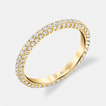 Chelsea Diamond Eternity Band in 18K Yellow Gold by Jean Dousset