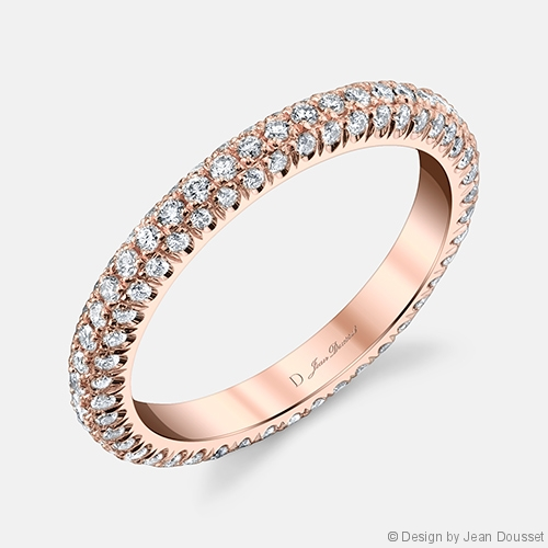 Chelsea Diamond Eternity Band in 18K Rose Gold by Jean Dousset