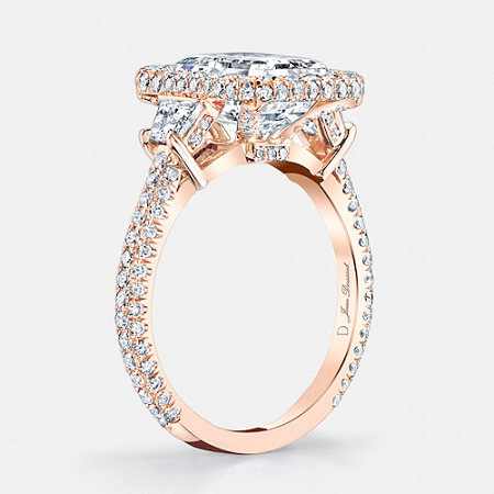 Lorin Three Stone Engagement Ring by Jean Dousset