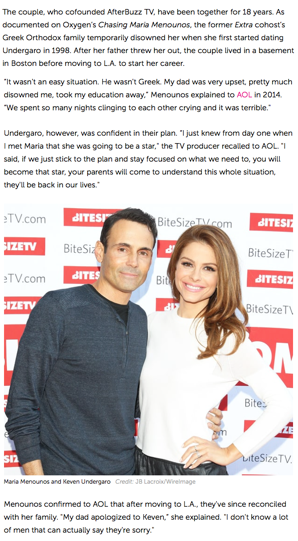 """""""Maria Menounos Engaged to Boyfriend Keven Undergaro After He Proposes on 'The Howard Stern Show'"""", US Weekly"""