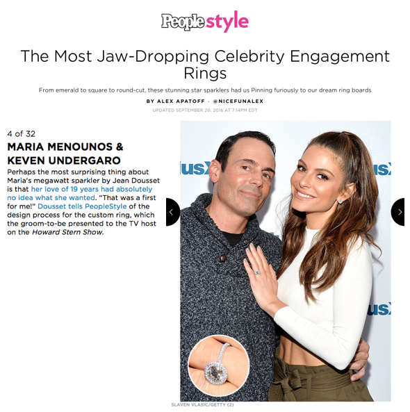 """""""The Most Jaw-Dropping Celebrity Engagement Rings"""", PEOPLE Style"""