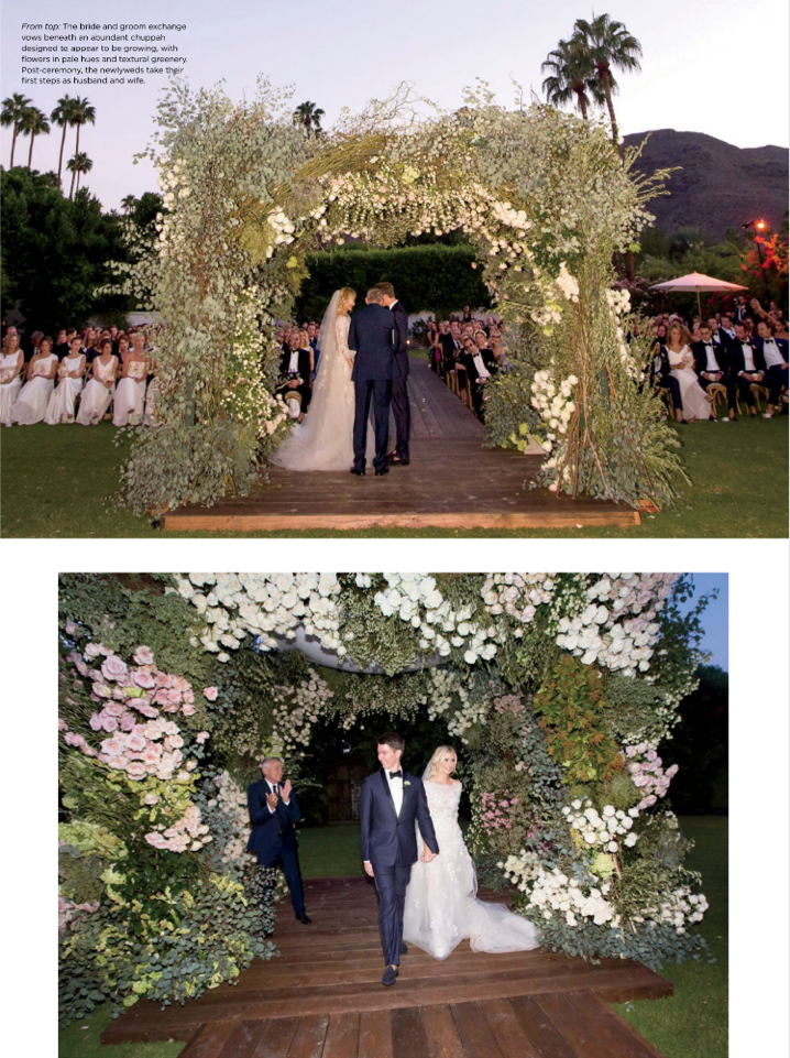 Halle Reum and Oliver Hammond's Wedding featured in C. Weddings, Spring 2017 Issue